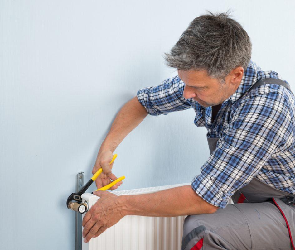 Heating system install
